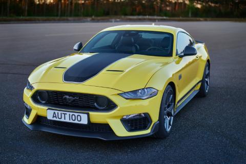 2021 Ford Mustang Mach-1 amarillo