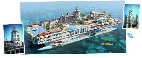 800 millones de euros cuesta este yate que reproduce Mónaco.