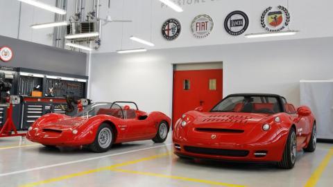 Abarth 1000 SP 2021 y Abarth 1000 Sp 1966