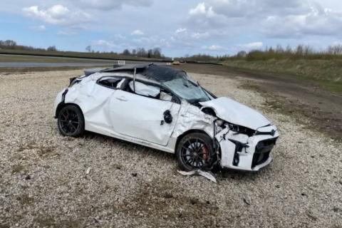 Accidente Toyota Yaris GR
