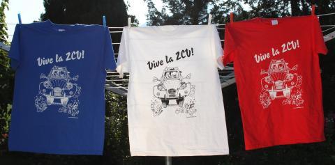 Camisetas Vive la 2CV