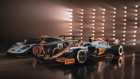 McLaren F1 GTR Longtail Y McLaren MCL35M Gulf