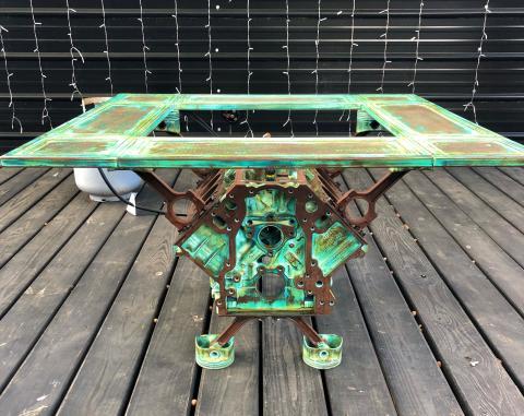 Mesa bloque motor con fuego Alaris Invent
