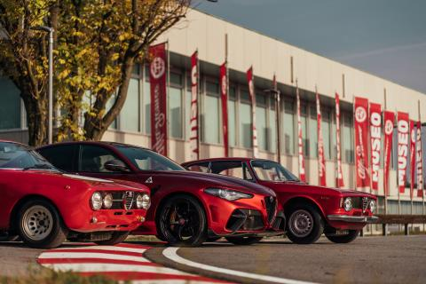 Alfa Romeo Giulia en el 111 aniversario de la marca