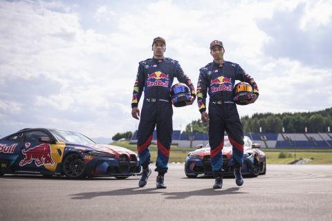 Elias Hountondji y Johannes Hountondji con sus BMW M4 Competition de drift