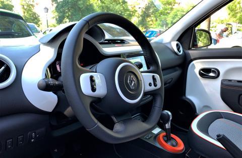 Interior del Renault Twingo Z.E.