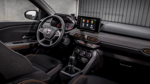 Detalles de interior del Dacia Sandero Stepway 2021