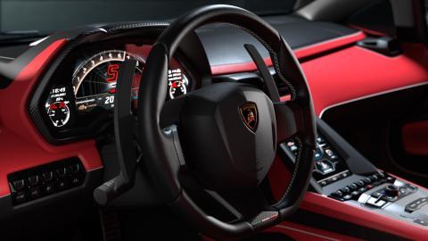 Interior del Lamborghini Countach LP 800-4