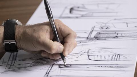 Porsche subasta un boceto único