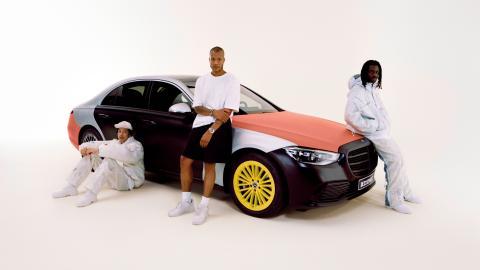 Colección de ropa hecha con airbags de Mercedes