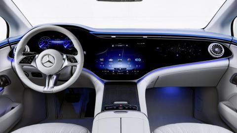 Interior del Mercedes EQE