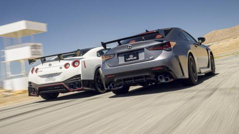 Nissan GT-R y Lexus RC-F