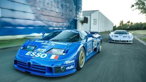 Los dos únicos Bugatti EB110 de carreras