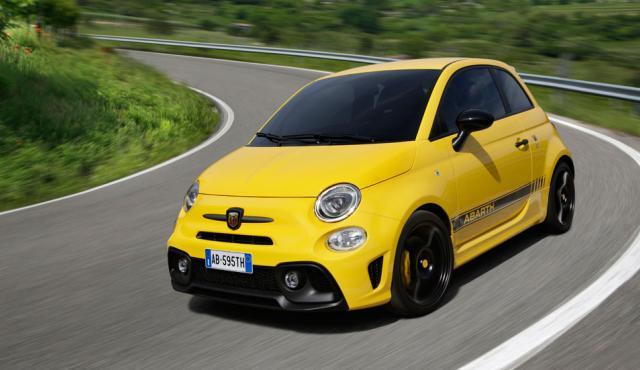Abarth 595 Competizione 2016 curva amarillo