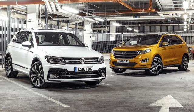 Comparativa SUV: Volkswagen Tiguan contra Ford Edge