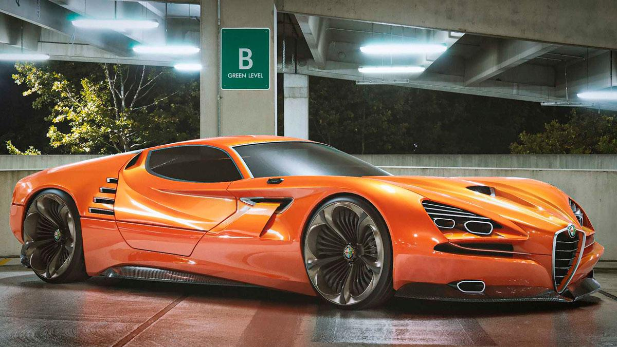 Alfa Romeo Montreal Vision GT: de aquellos genes...