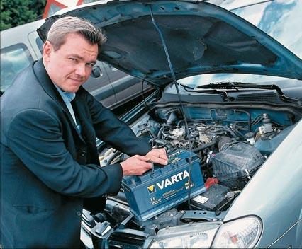 ácido bateria coche
