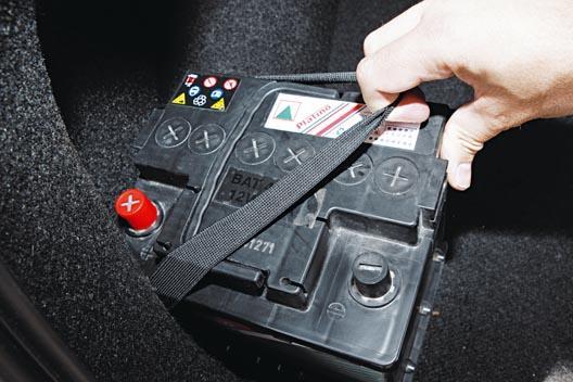 colocación batería coche