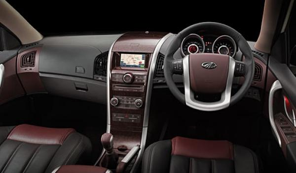 Interior del Mahindra XUV500