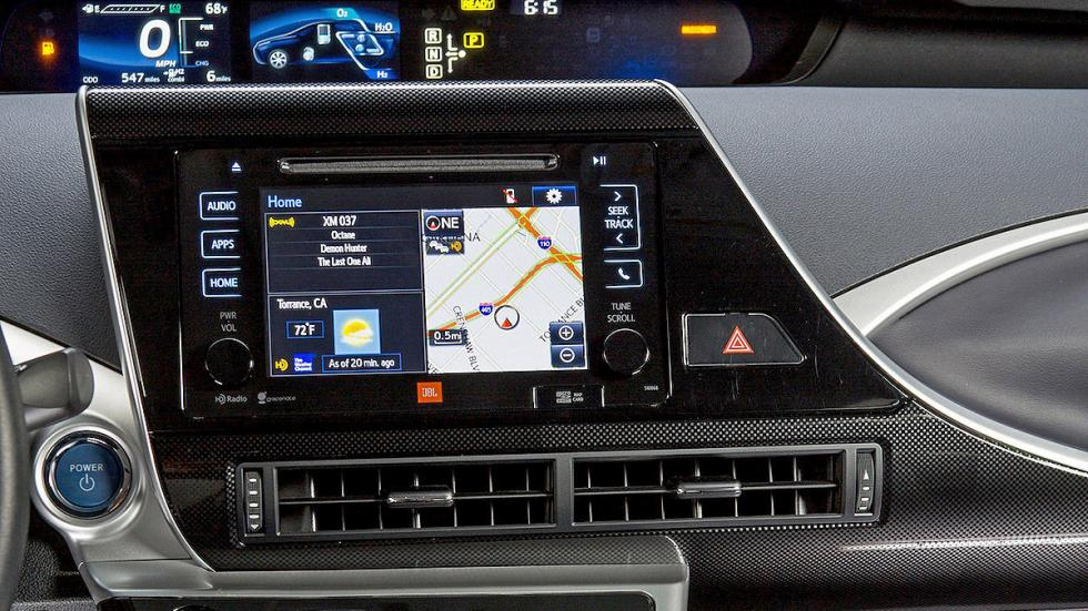 Toyota Mirai detalle pantalla