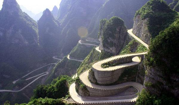 Ruta Tian Men Shan, en China