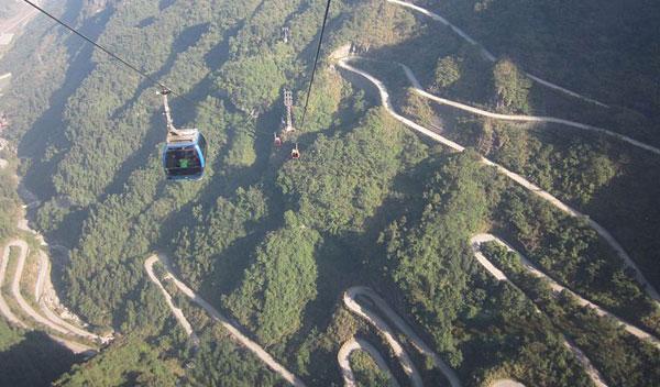 Ruta Tian Men Shan, en China.