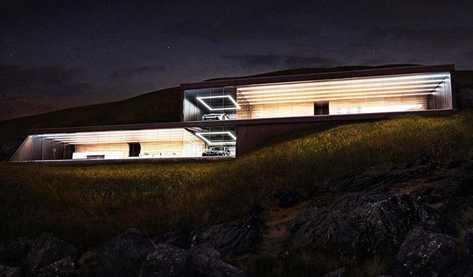 casa con garaje con vistas al mar