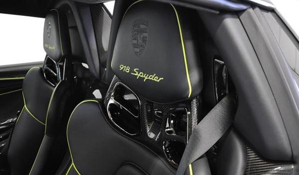 Porsche 918 Spyder Martini asientos