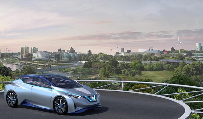 gasolinera futuro Nissan Norman Foster