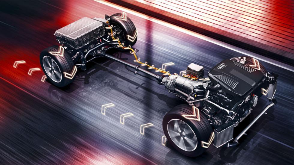 Audi Q7 e-Tron base eléctrica
