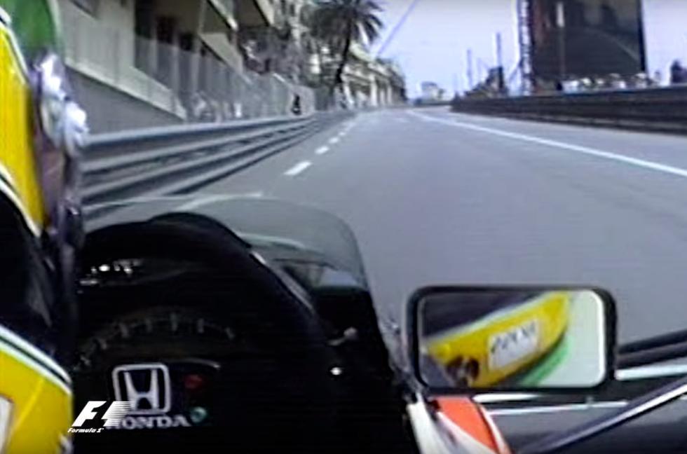 Ayrton Senna en su McLaren en Mónaco