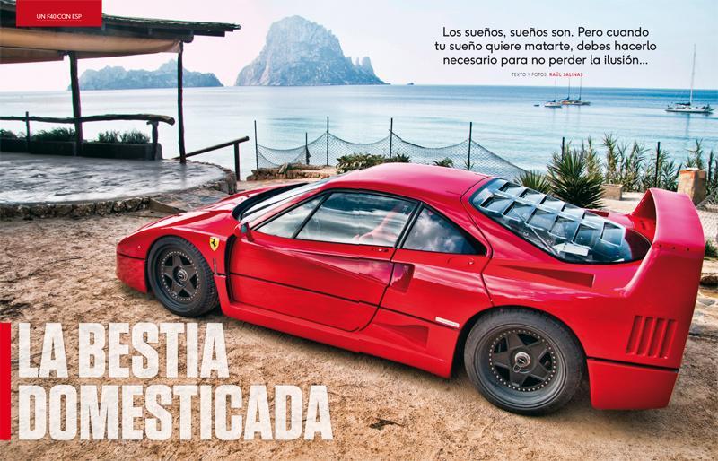 Un Ferrari F40 con ASR en TGE