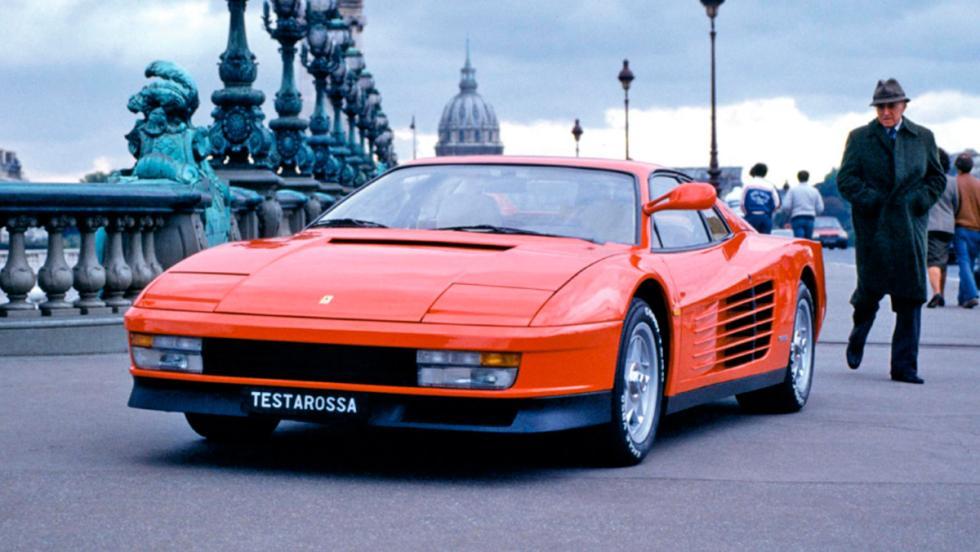 Ferrari Testarossa, cambio dog leg