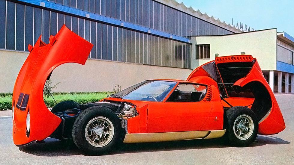 Lamborghini Miura P400 Prototipo fabrica antigua