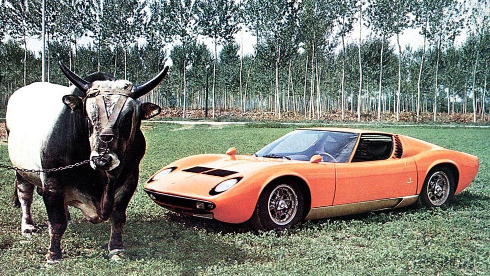Lamborghini Miura toro antigua