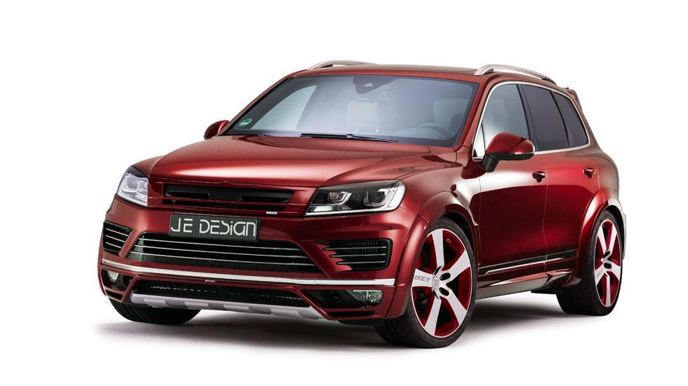 Volkswagen Touareg JE DESIGN frontal rojo