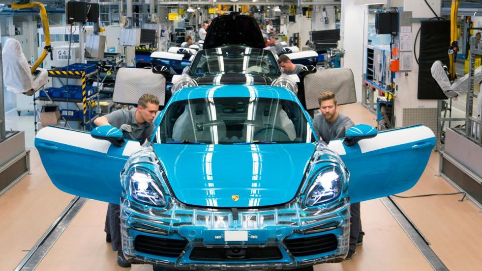 Porsche 718 Cayman, producción, 2