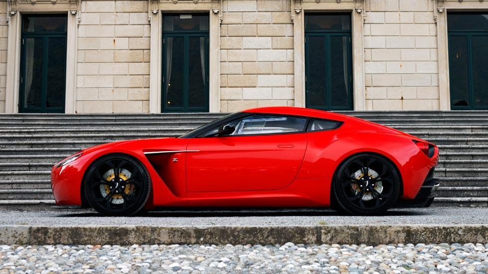 Aston Martin V12 Zagato lateral rojo concept