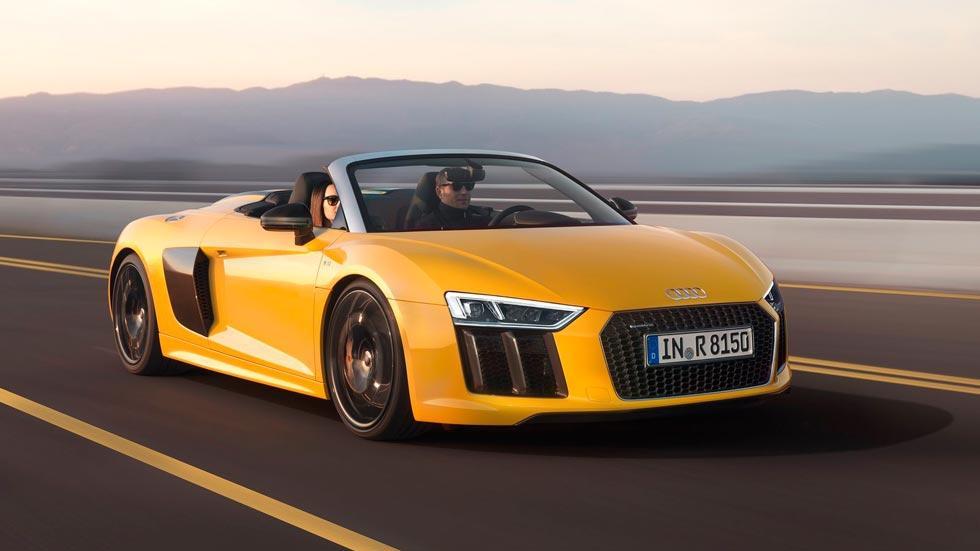 Audi R8 V10 Spyder deportivo lujo