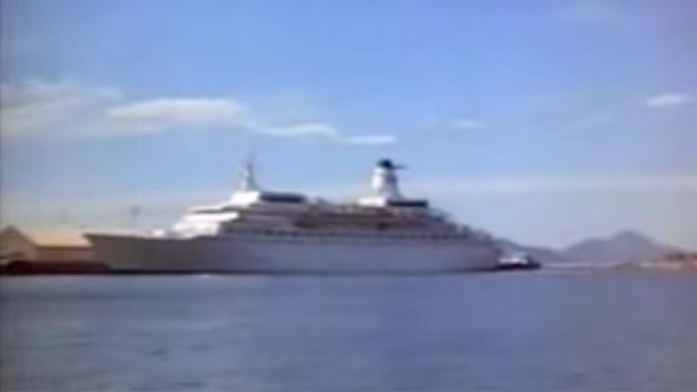 El barco de Vacaciones en el Mar
