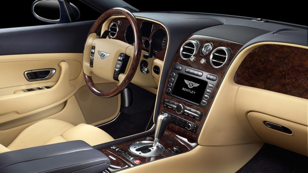 Bentley Continental GT interior madera lujo