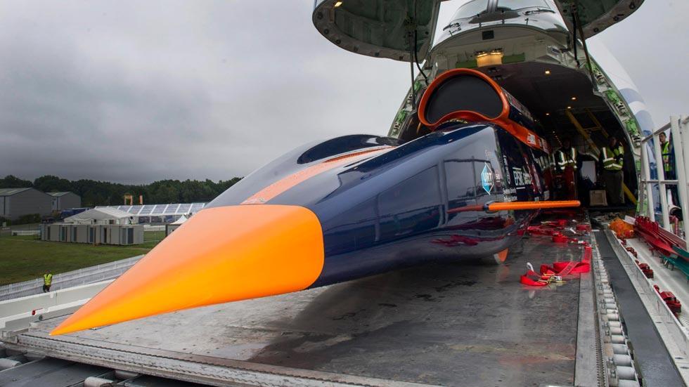 Bloodhound SSC frontal cargo boeing 747