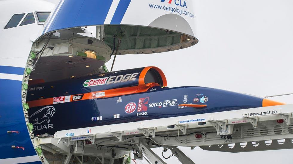 Bloodhound SSC transporte 747 boeing