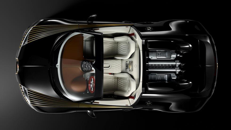 Bugatti Veyron black bess cenital interior lujo