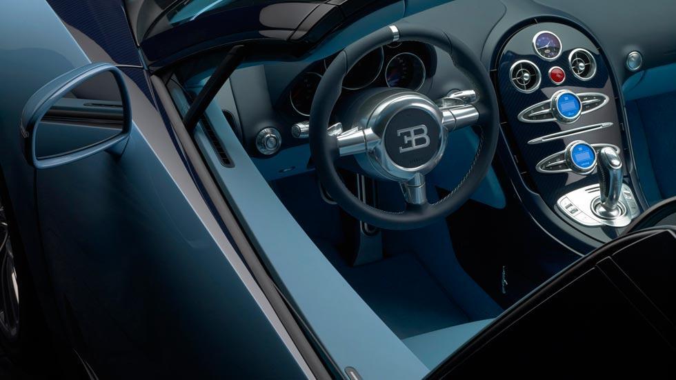 Bugatti Veyron JP Wimille interior azul cuero