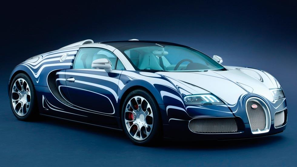 Bugatti Veyron l'or blanc lujo pintura curiosa