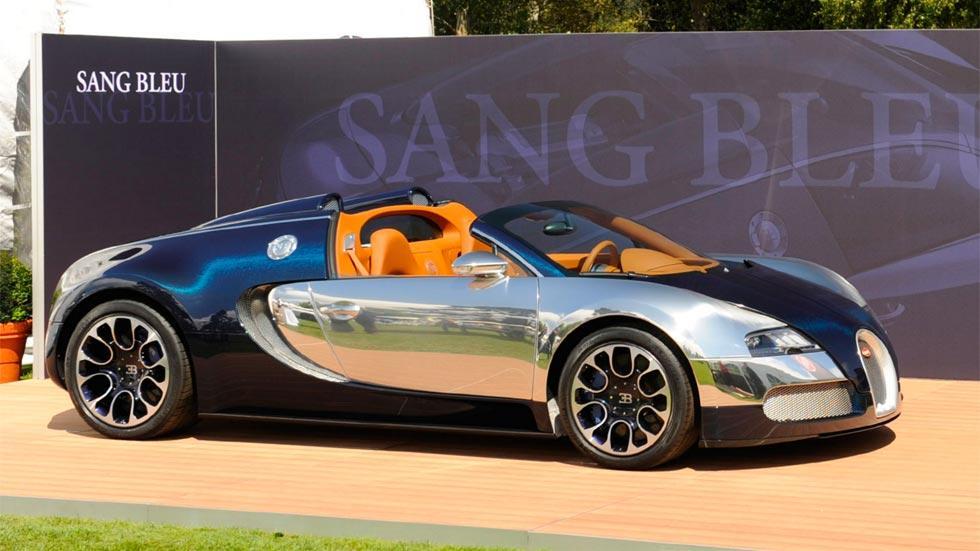 Bugatti Veyron Sang Bleu cromado carbono azul