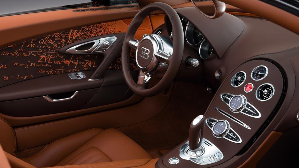 Bugatti Veyron Venet interior lujo cuero