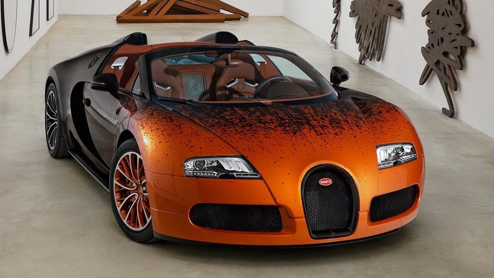 Bugatti Veyron Venet naranja matemáticas lujo limitado