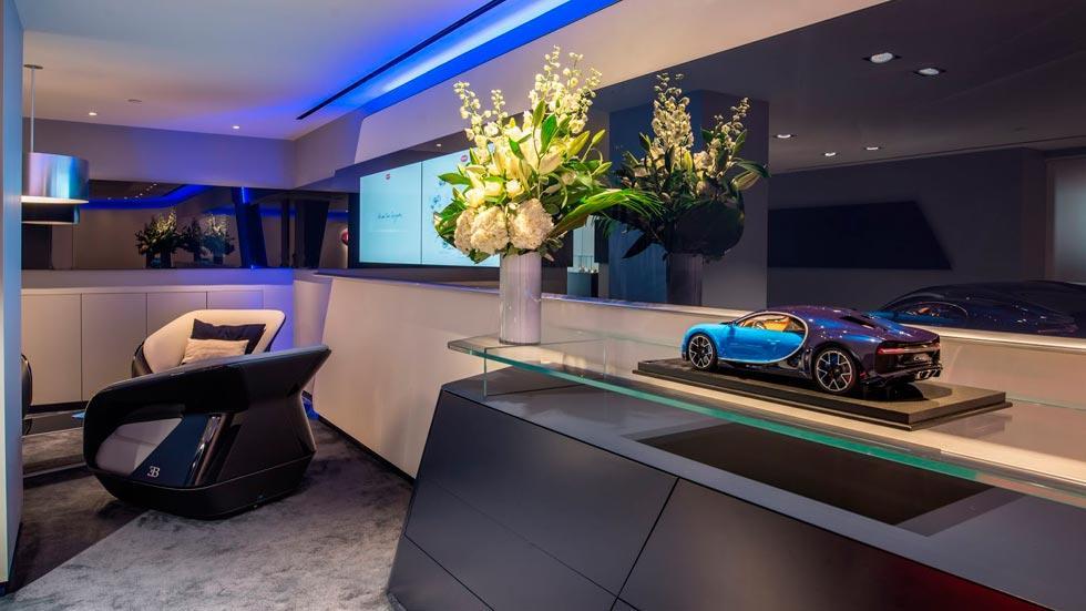 Concesionario Bugatti Londres maqueta